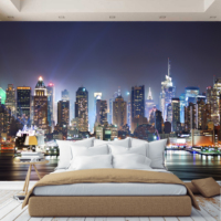 3D Photo Wallpaper wall paper Night City, wallpaper custom, hall, kitchen, bedroom, children's, photo wallpaper enhance space
