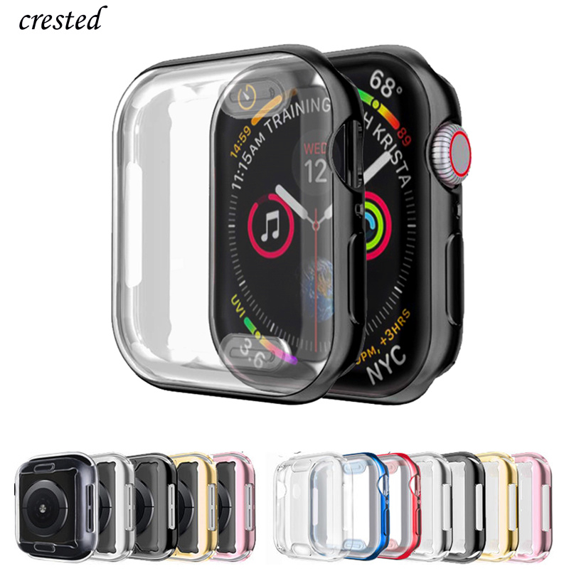 TPU Cover For Apple Watch 5/4 Case 44mm/40mm IWatch Case 42mm/38mm Soft Screen Protector Bumper Apple Watch 3 2 1 40 44 42 38 Mm