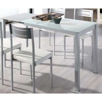 Extendable table dining room or kitchen glass White|End Tables| |  -