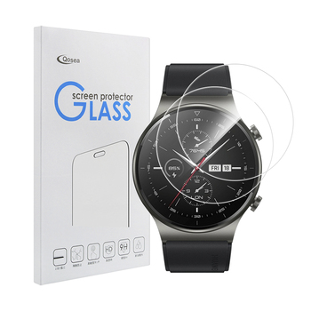 3 Pcs Screen Protector For Huawei Watch GT 2 Pro Tempered Glass 9H Clear Anti-Scratch Screen Guard Shatterproof For Huawei GT 2 2 pcs screen protector for huawei watch gt 2 pro soft film full cover 9h clear anti scratch screen guard protective shatterproof