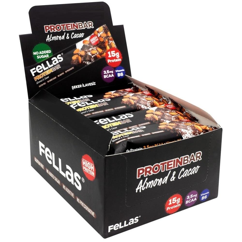 Protein bar snack Chocolate Almond 15 GR HIGH PROTEIN 3 5 mg BCAA 1 box 12