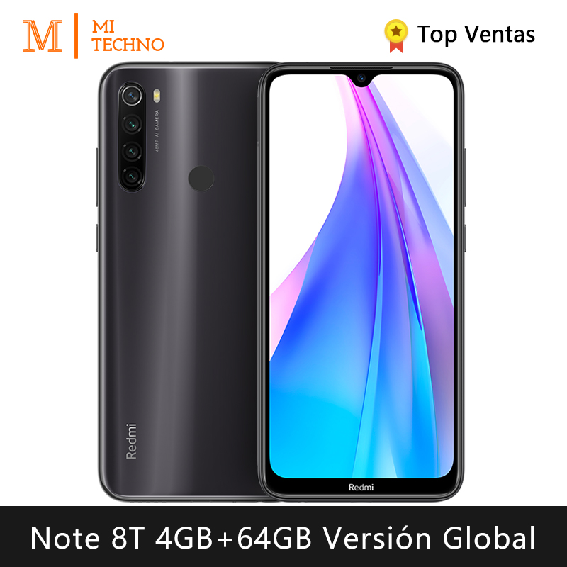 Xiaomi Redmi Note 8T <font><b>Smartphone</b></font>(<font><b>4GB</b></font> <font><b>RAM</b></font> <font><b>64GB</b></font> ROM NFC Free mobile phone New android 4000mAh battery) [Global Version] image