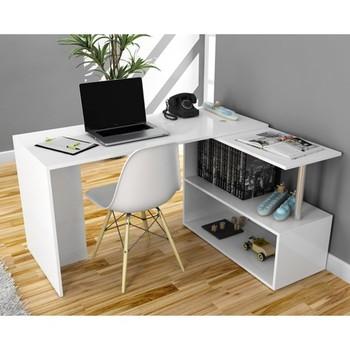 Biurko-białe biurko komputerowe stół średniej wielkości stół wielofunkcyjny stół konsolowy stół biblioteczny biurko z przegródkami tanie i dobre opinie Hepsiburada Home Nowoczesne Meble do salonu 132x50x73 8 Europa i ameryka Other Rectangle Stół konsoli Meble do domu