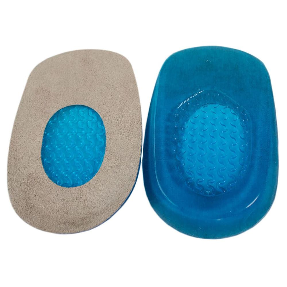 Silicone insoles for travel heels a sole for relieving pain in the legs foot support inserts Soft Heel GESS-039 L moon style silicone breast enhancers bra inserts pair