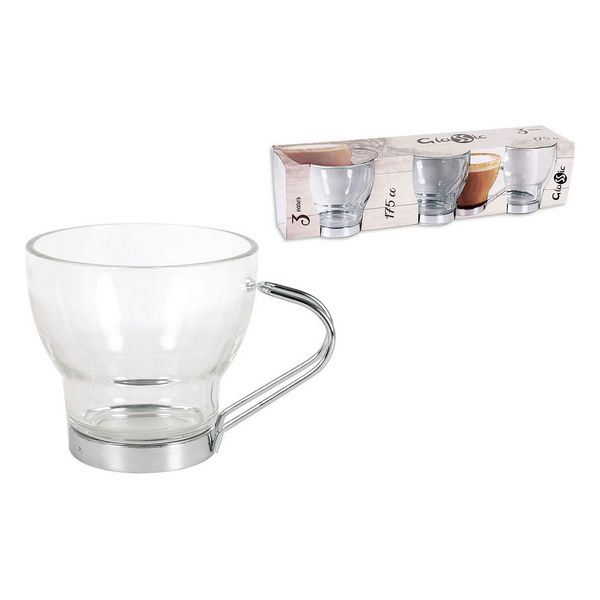 Piece Coffee Cup Set Glassic 175 Cc Crystal (3 Pcs)