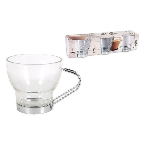 Piece Coffee Cup Set Glassic 175 Cc Crystal (3 Pcs)