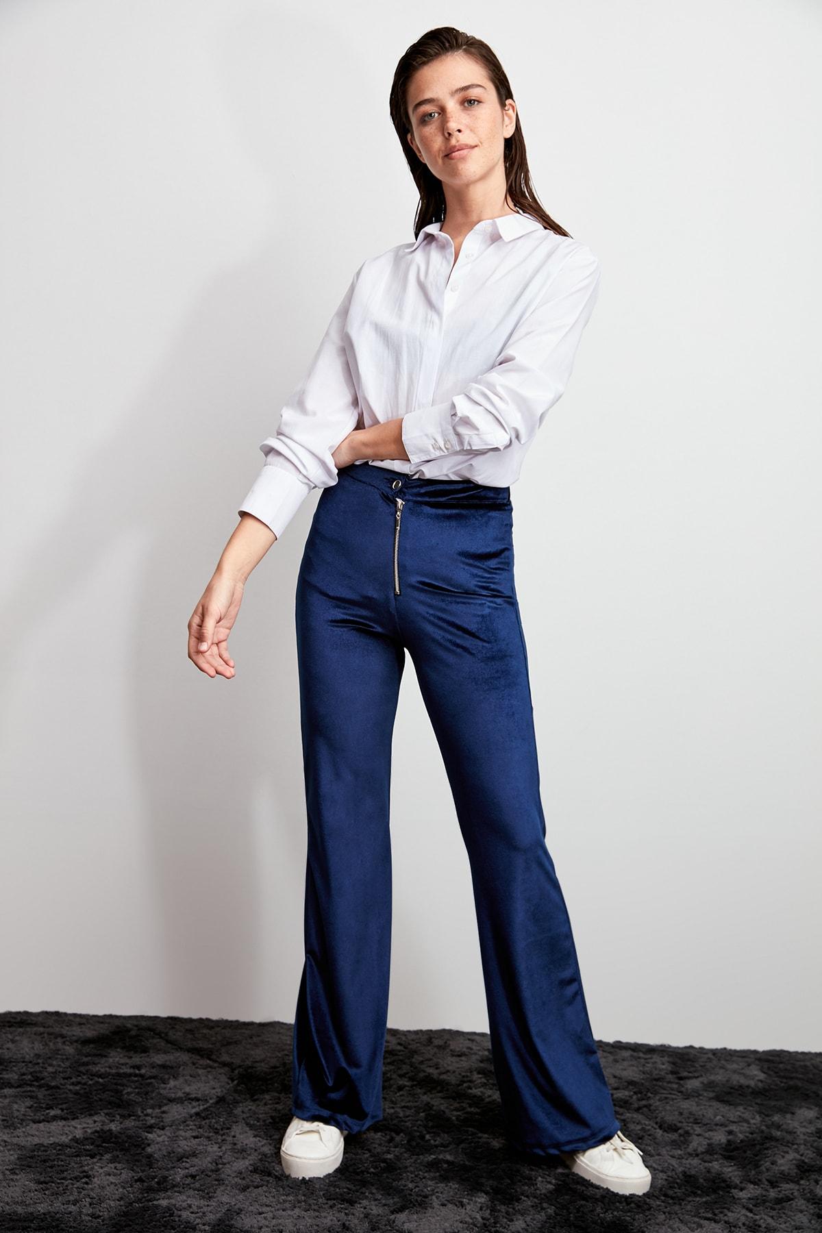 Trendyol Velvet Knitted Pants TWOAW20PL0474