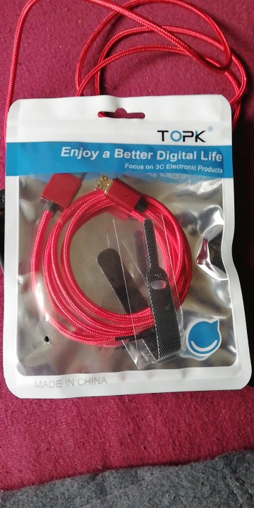 TOPK F Line1 Magnetic Micro USB Cable LED Indicator Upgraded Nylon Braided Data Sync USB Charger Cable for Micro USB Port|cable for|cable for micro usb|usb cable led - AliExpress