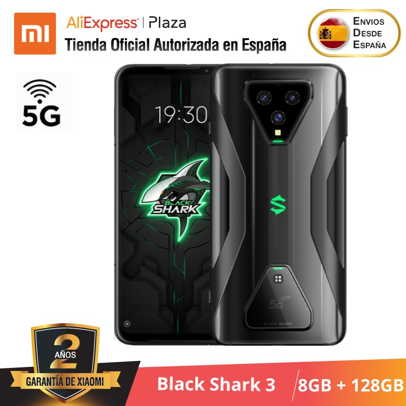 [Versión Global para España] Xiaomi Black Shark 3 (Memoria interna de 128 GB, 8GB de RAM, Snapdragon 865, 65W Hyper Charge 4720)