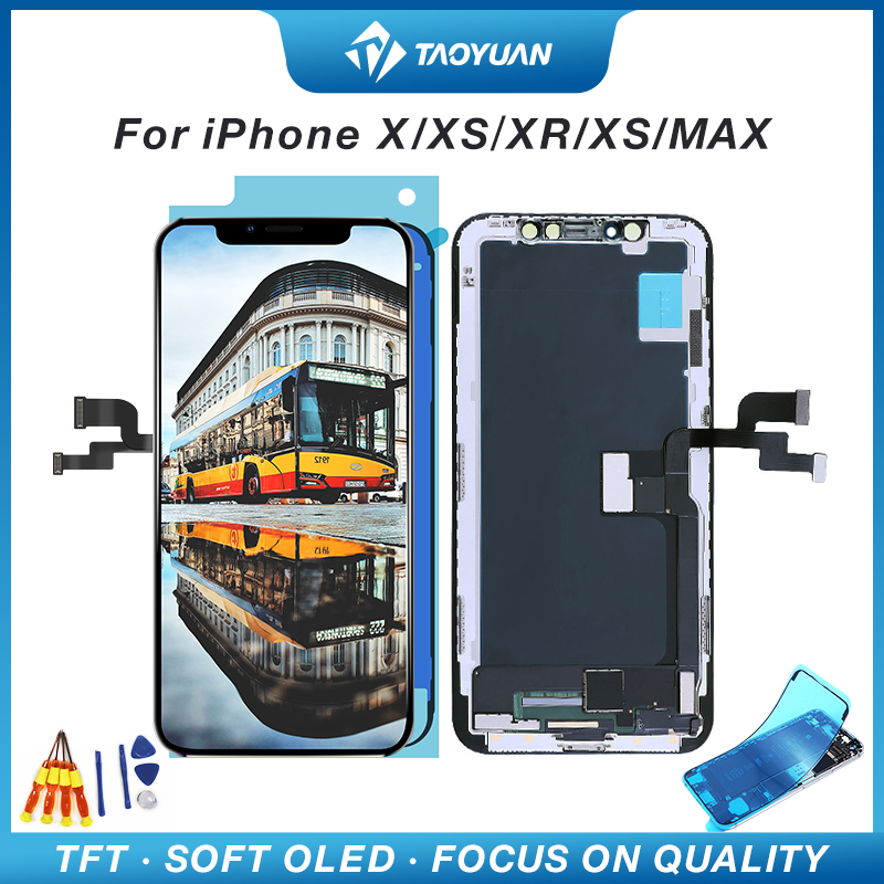 High Quality TFT OLED Soft For iPhone X XS XR XS MAX 11  LCD Display Touch Screen Replacement with 3D Touch Digeiter Assembly