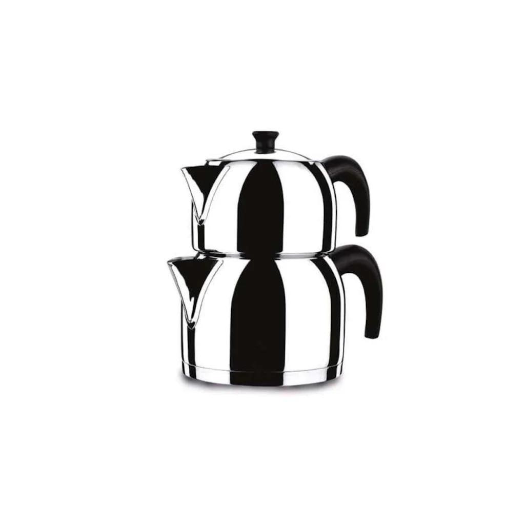 Турецкий высококачественный турецкий чайник из нержавеющей стали, двойной чайник, Семейный Размер, набор для приготовления чая, инструменты для нагрева воды, турецкий горячий чай|Заварники| | АлиЭкспресс