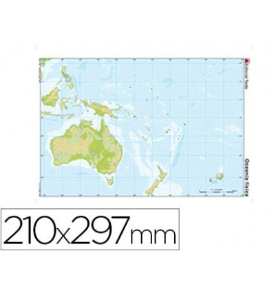 MAP MUTE COLOR DIN A4 OCEANIA-PHYSICAL FITNESS 100 Units
