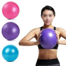 25cm Yoga Pilates Soft Thick Ball for Gym Fitness Massage Pelvic Floor Exercise with 1pcs Pump Random Color Slimming Sports PVC