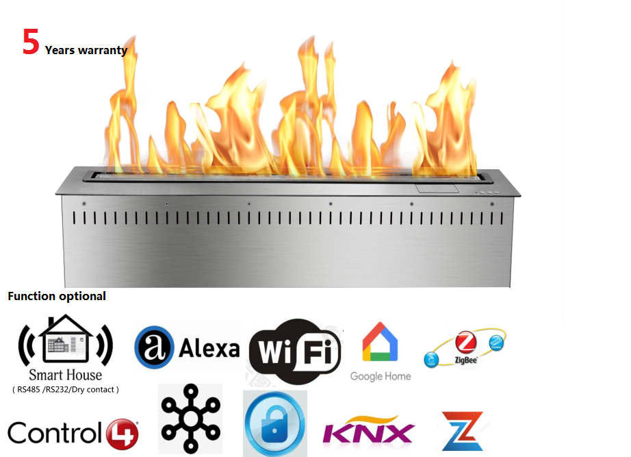 48  Inch Wifi Real Fire Intelligent Auto Electric Home Decoration Bio Ethanol Alcohol Fireplace
