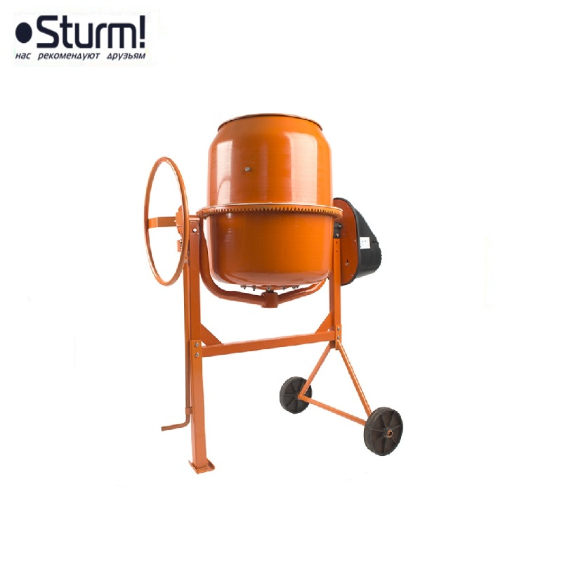 CM20160 Concrete mixer Sturm !, 1100 W, 160 l, 28 rpm, cast iron. crown, plastic casing  Job mixer Drum mixer Revolving-drum