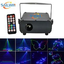 Nowy 150mW rgb pełny kolor laser animacyjny scena dyskoteki światło laserowe ing na imprezę Xmas Party światła dj-skie tanie tanio SAILWIN LIGHT AUDIO Etap światła Dotykowy włącznik wyłącznik Wolnostojące iron ROHS Profesjonalne 150MW LASER LIGHT