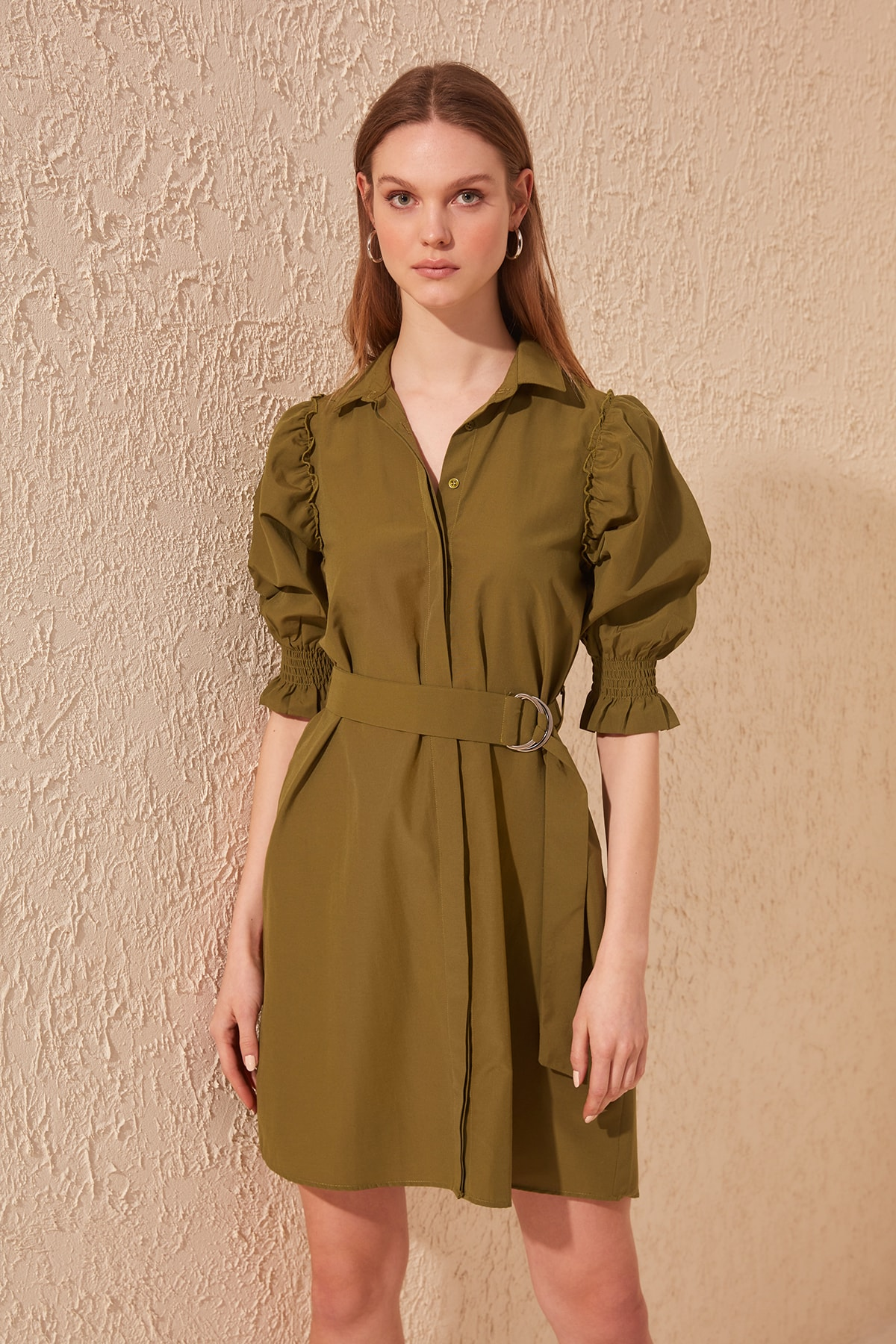 Trendyol Arched Shirt Dress TWOSS20EL0534