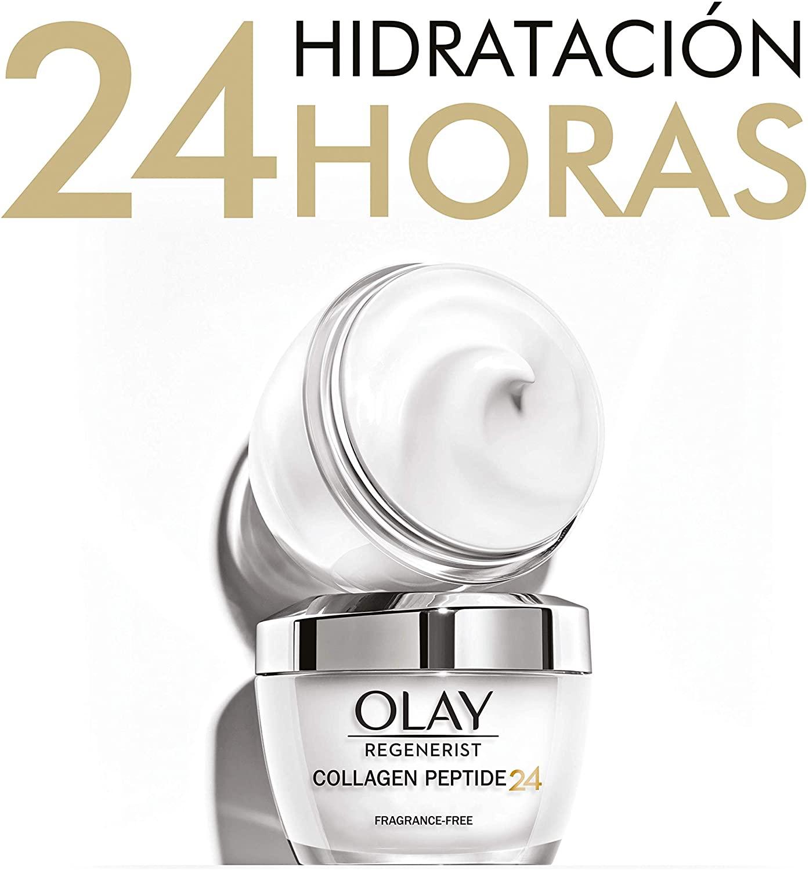 Olay Regenerist Collagen Peptide24, Crema de Día 50ML, Sin Perfume, Revela una Piel Fuerte y Luminosa, Cremas y Lociones