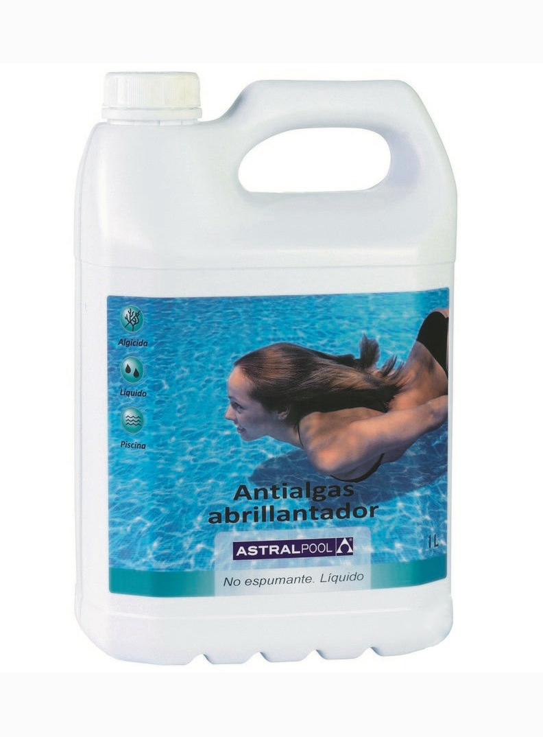 Chemistry For Swimming Pool, Cleaning And Disinfection Of Water, Astral альгицит With осветлителем, 1 Liter, Item No. 11413