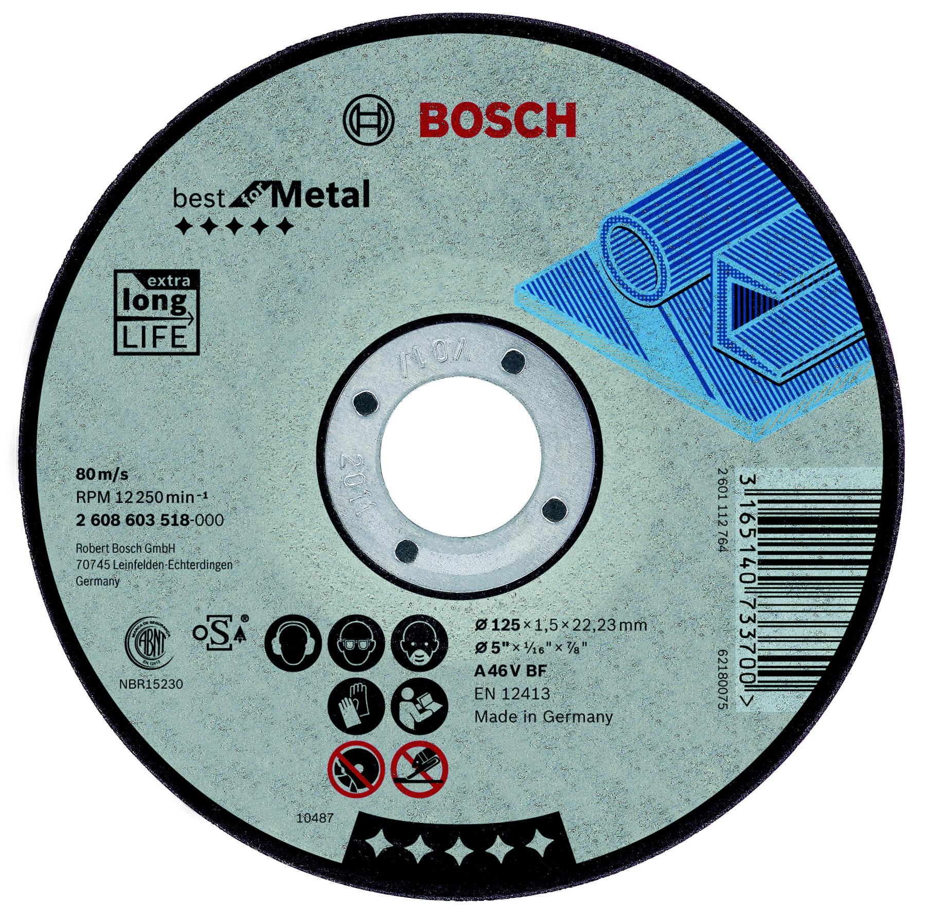 Circle Cutting BOSCH 230х2. 5х22 Best For Metal (2.608.603.530)