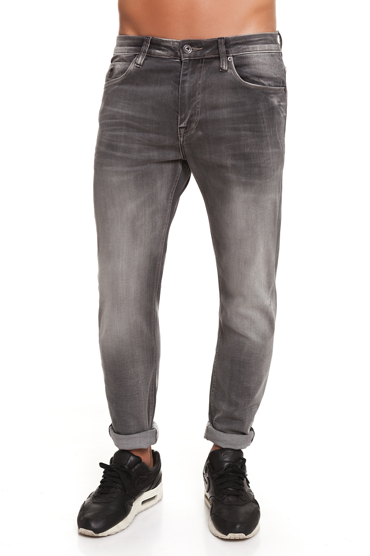 CR7 Jeans For Men Color Indigo Grey Casual Jeans Casual Slim Thin Straight Pockets CRD005A