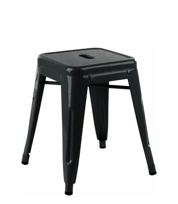 Stool TOL 45, Low, Steel, Black