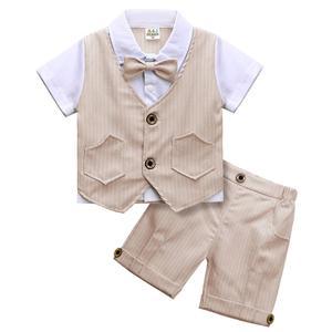 Baby Boy Suit Toddler Baptism Tuxedo Infant Wedding Birthday Party Gift Blazer Children Clothing Set