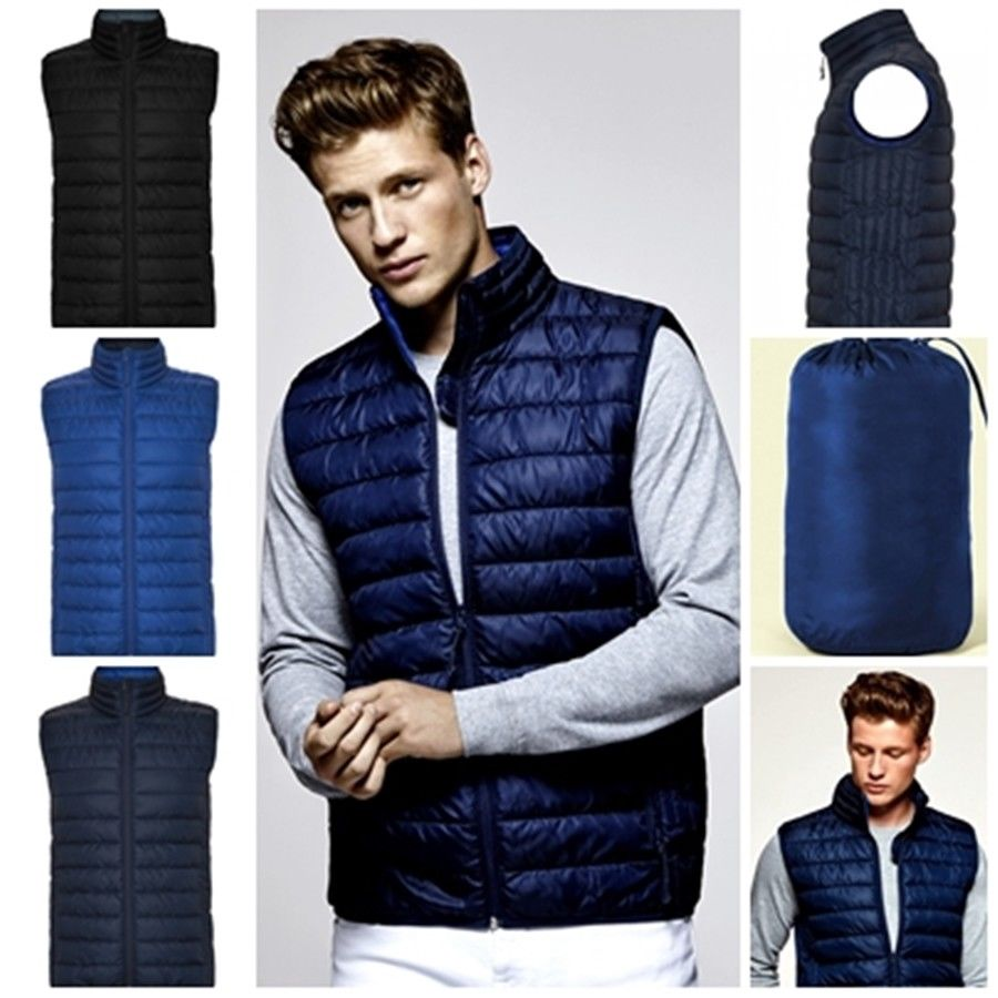 Waistcoat Men QUILTED With Padding Touch Feather. Mod. Oslo