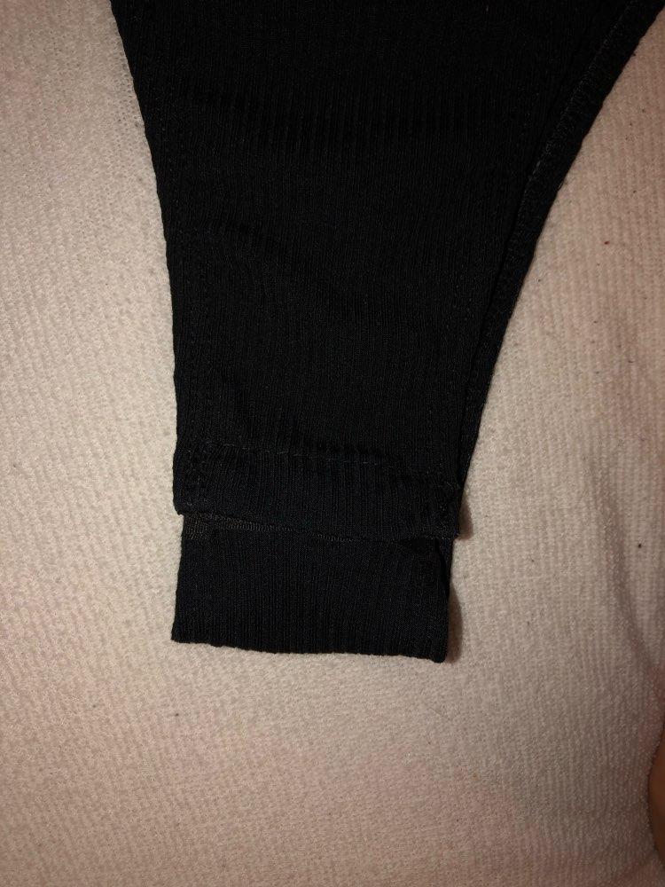 Black Minimalist Solid Form Fitting Bodysuit Casual O Neck Short Sleeve Skinny Bodysuit Women Summer Tshirt Bodysuits photo review