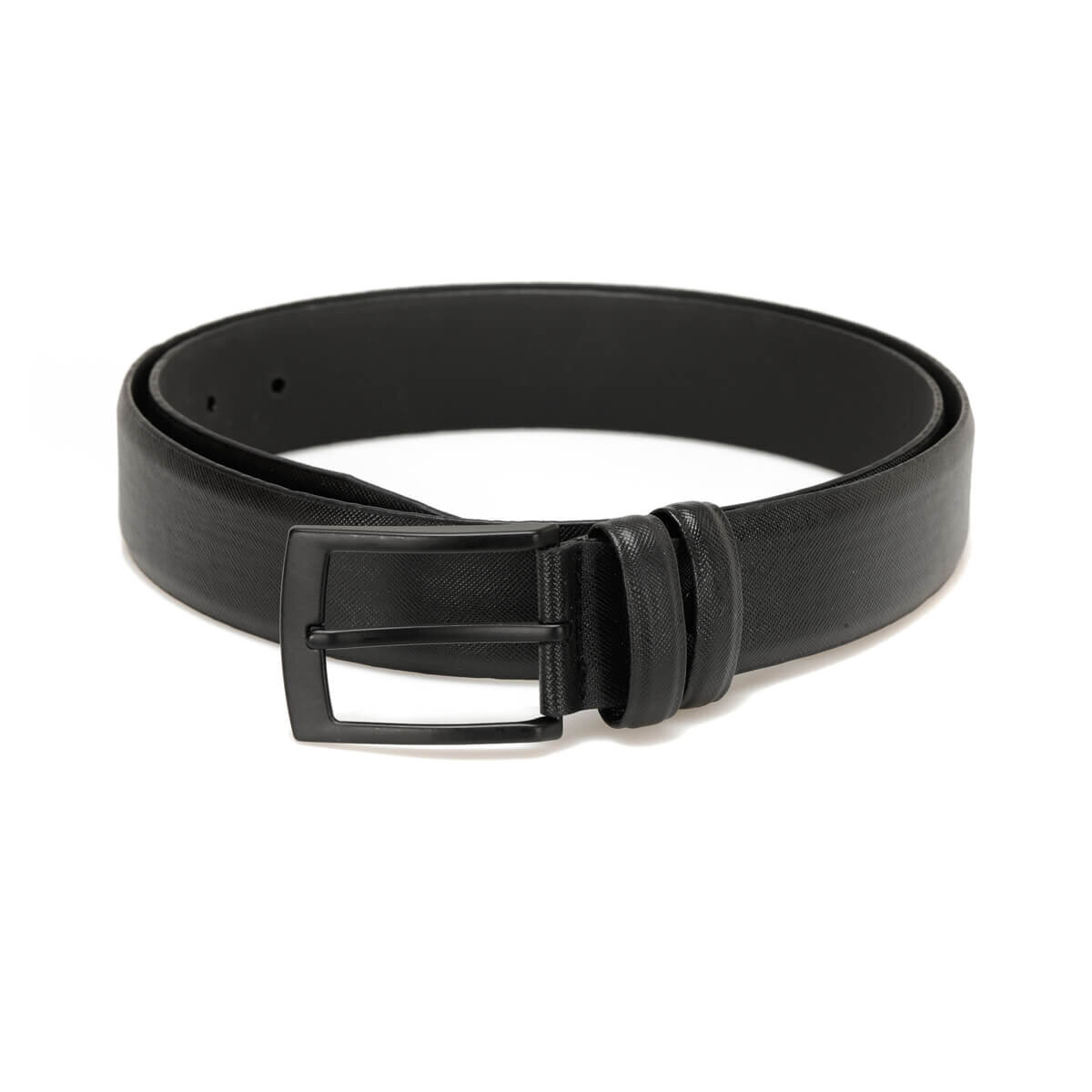 FLO MKNYL3408 Black Male Belt Oxide