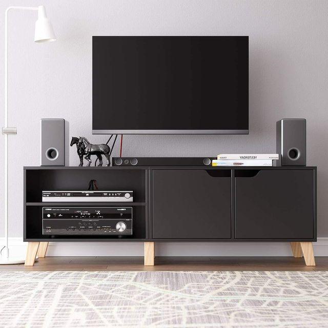 55 inch Modern TV Stand Console Center w/ Storage Cabinet  4