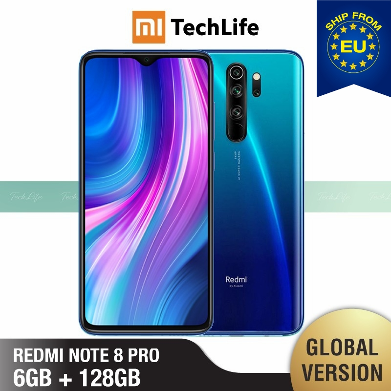 Xiaomi Redmi Note 8 Pro 6GB 64gb 8-Pro 128GB Nfc Quick Charge 3.0 Octa Core Fingerprint Recognition