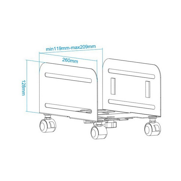 Подставка для ПК TooQ UMCS0004-B 11,9-20,9 см черный