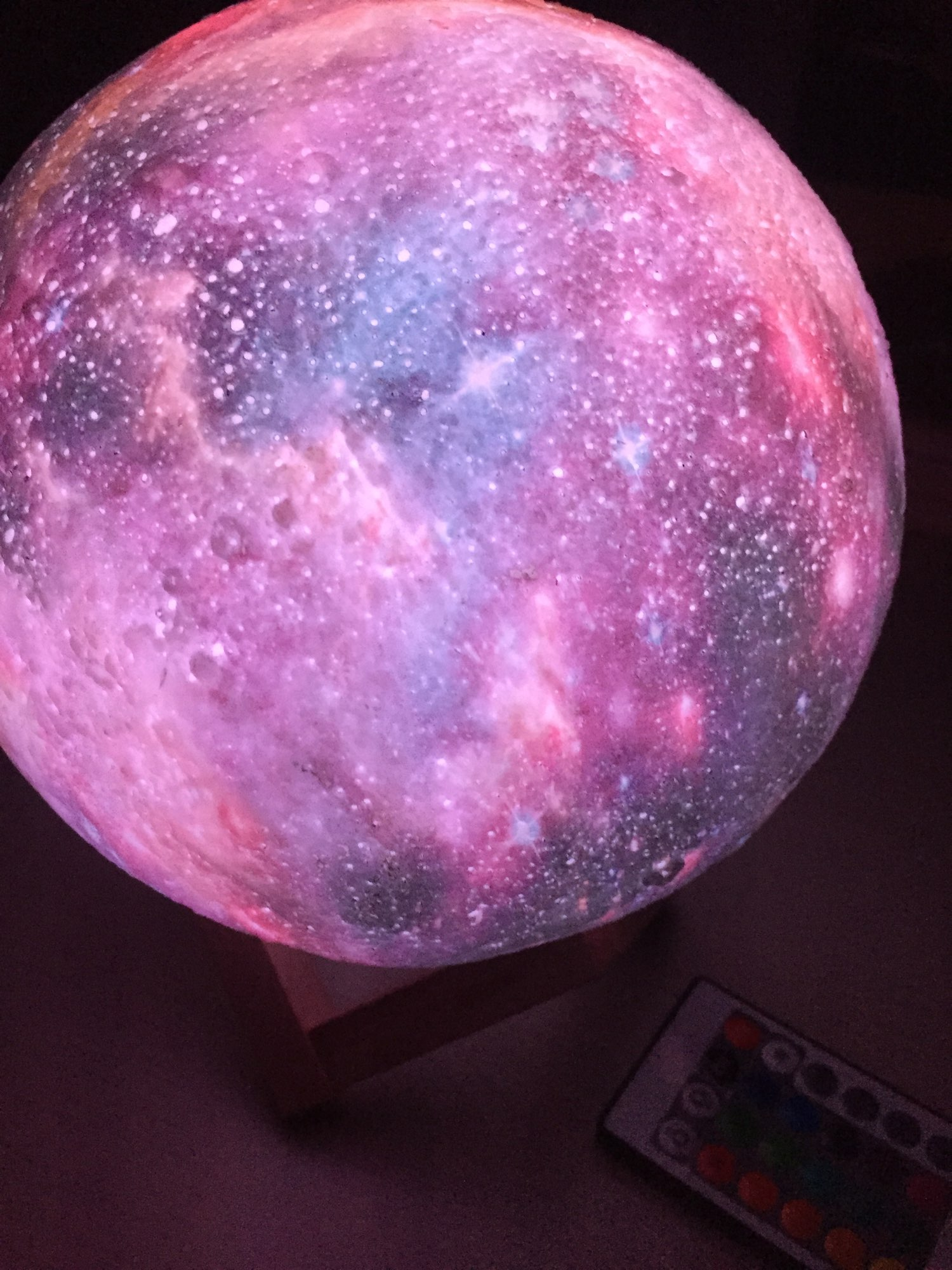 Lampe lune galaxie photo review