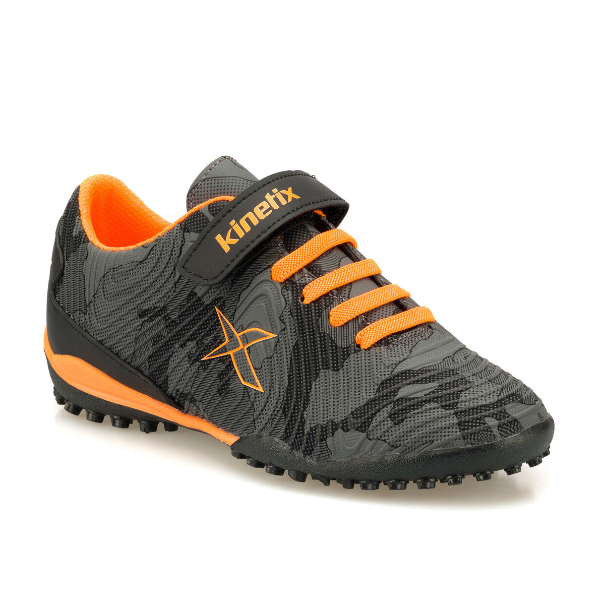 FLO AGRON J CAMO TURF Black Male Child Carpet Field Shoes KINETIX