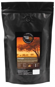 Свежеобжаренный coffee Uganda Sipi Falls organic (under espresso) in grains, 500g
