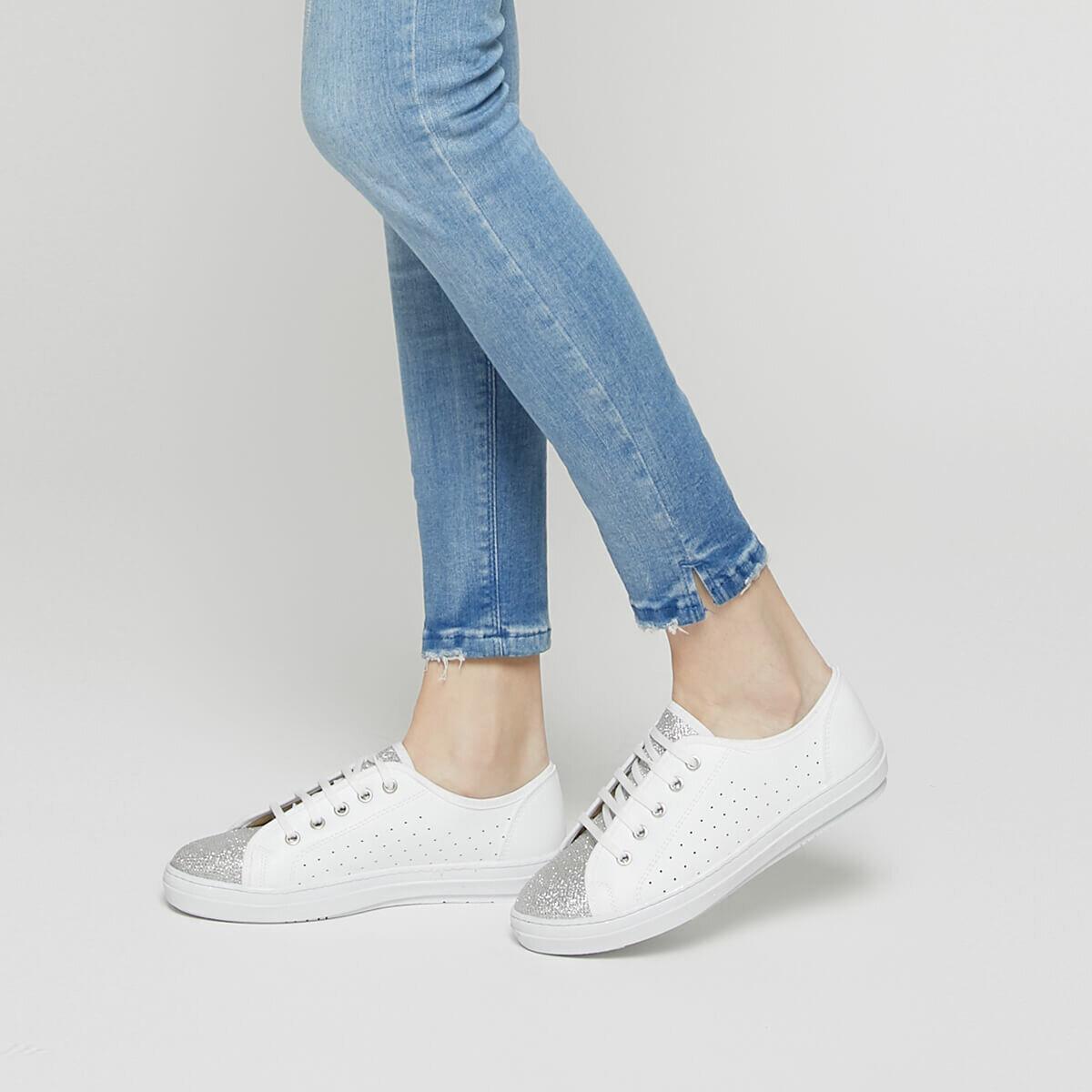 FLO CS19052 White Women 'S Sneaker Shoes Art Bella
