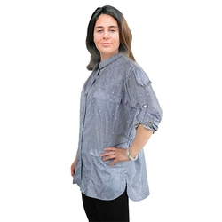 Халат парикмахерские Ambra халат AMBRA синий штамп Размер XL