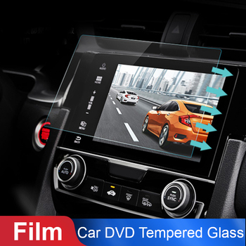 Vehemo Car Tempered Glass For Car GPS MP5 Video Player Screen Protector Film Premium 7 Inchs 153x89mm DVD Guard LCD Monitor image