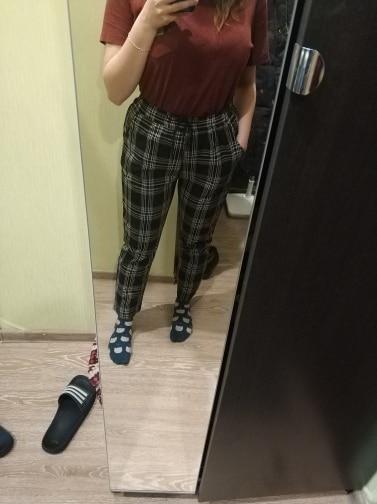 -- calças xadrez harajuku