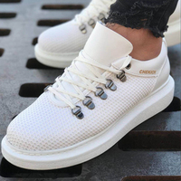 Chekich CH021 YBT Male Shoes WHITE. 100 Vegan 100 Cotton Shoe sneaker air van chaussure loafer trainer uomo money footwear