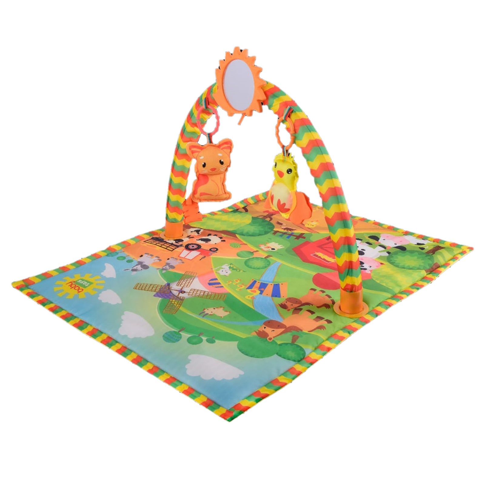 Ebebek Baby&toys Farm Baby Playing Game Carpet