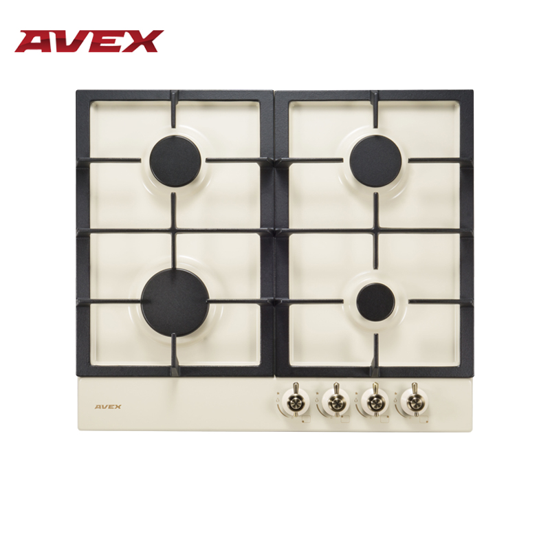 Built In Hob Gas On Metall With Cast Iron Grilles AVEX HS 6141 YR Home Appliances Major Appliances Gas Cooking Surface Hob Cooke