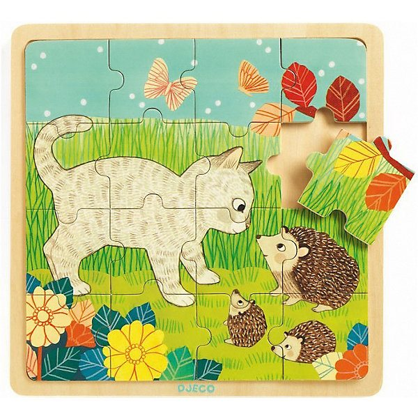 Wooden puzzle DJECO Game grass wooden puzzle djeco autumn in the woods