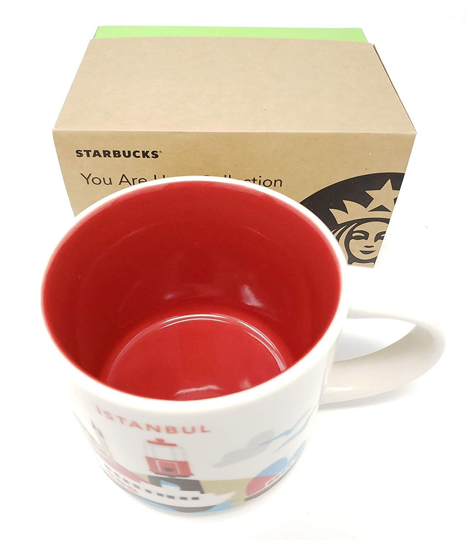 Starbucks You Are Here' Yah Collection City Mug - Istanbul, Turkey. 14Oz Light Blue