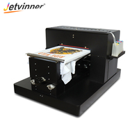 Jetvinner A3 Size DTG Digital Garment Printer Directly to Print Dark Light Color Flatbed Printer for T Shirt Clothes Phone Case