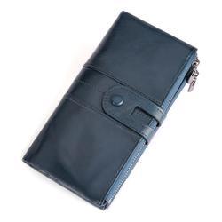 Raccoglitore di cuoio degli uomini borsa lunga carteira masculina hombre billeteras sottili porte 2019 portafogli degli uomini di cuoio genuino