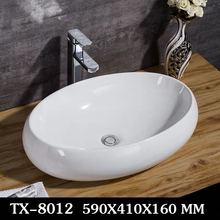 Bowls Basin Vessel Sink Ceramic Bathroom HDU Small Art Square Household Simple
