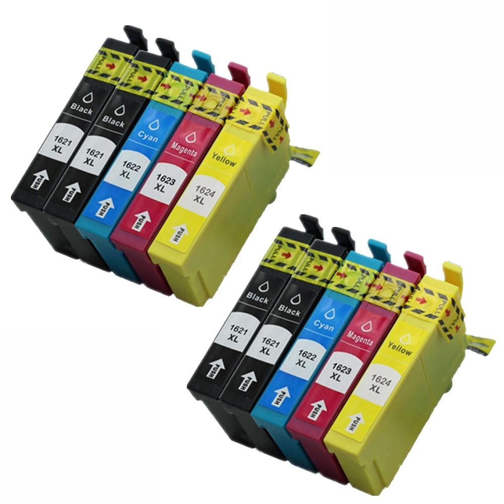 10 Ink Cartriges T16XL Model T 16 XL T 16XL T1631 T1632 T1633 T1637 Compatible With Epson Printers WF-2630 WF-2610DWF