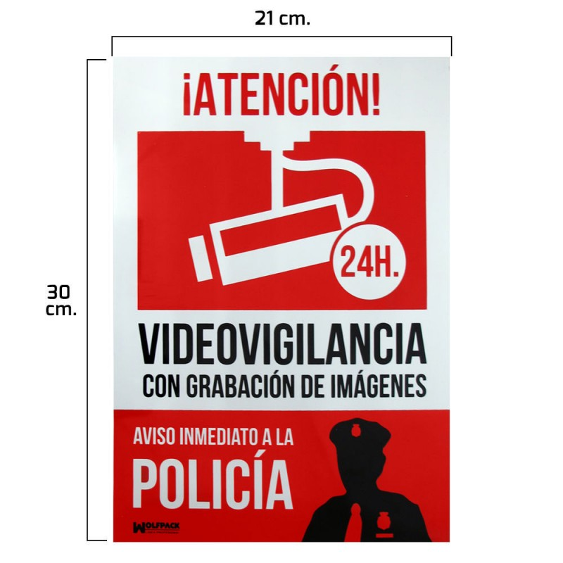 Poster Alarm Connected Notice To Police 30x21